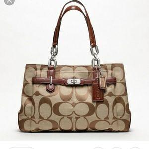 Coach Chelsea khaki Walnut jayden purse